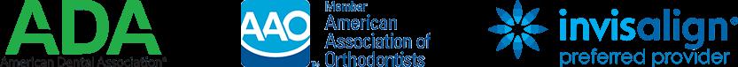 Member ADA, Member AAO and invisalign preferred provider